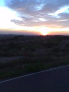 Una puesta de sol...